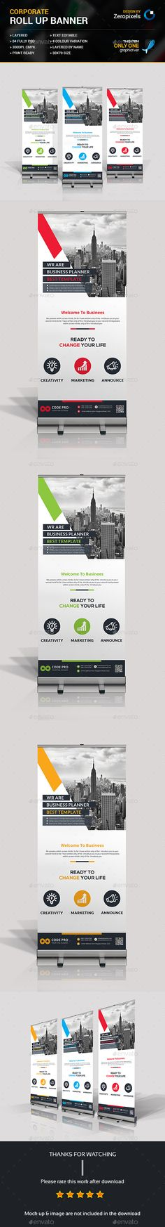Roll Up Banner Template PSD. Download here: http://graphicriver.net/item/roll-up-banner/16728398?ref=ksioks
