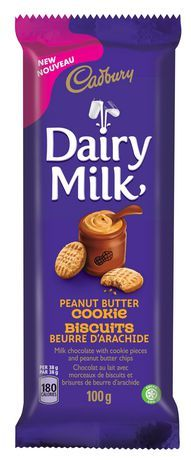 100 g Chocolate Pantry, Household & Pets Cadbury Dairy Milk Chocolate, Chocolate Peanut Butter Cookies, Peanut Butter Chips, Chocolate Peanuts, Calories, Cookies Et Biscuits, Cocoa, Pantry, Household