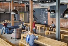 Really like these tables/benches ... iZotope – Cambridge Offices