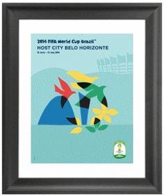 Belo Horizonte 2014 FIFA World Cup Host City Framed Print