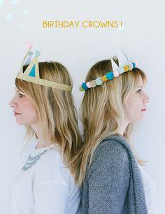 diy birthday crown birthday crowns A Subtle Revelry Diy Birthday Crown, Ball Birthday, Winter Birthday, Birthday Crowns, Diy Birthday Kit, Elmo Birthday, Dinosaur Birthday, Birthday Gifts, Princess Party Favors