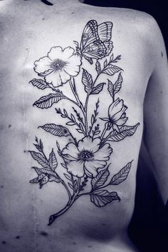 floral tattoo - Alice Carrier