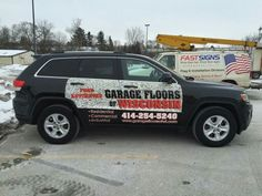 FASTSIGNS of Menomonee Falls applied half wrap, for Garage Floors Of Wisconsin. Check us out at fastsigns.com/452, call us at #262-253-0799, email us at 452@fastsigns.com, or come visit us at W173N9170 St. Francis Drive, Suite 1, Menomonee Falls, WI 53051