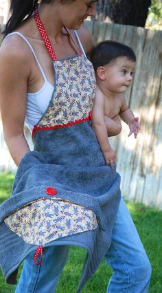 Make a Baby Bath Apron Hooded Towel
