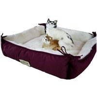 Cheap Cat Bed in Burgundy and Ivory sale