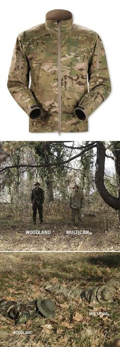 "Lovin' this Multicam Arc'teryx Combat Jacket.. Combines athletic cut and breathability.. with the a camouflage pattern that really blends you into the landscape.. Check the comparisons with ""Multicam"" vs. traditional ""Woodland"" pattern below.. Huge difference.."