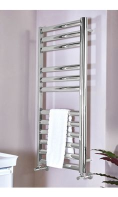 Phoenix Aubrey Electric Stainless Steel Designer Heated Towel Rail with finance available* and free delivery on orders over Electric Radiators, Heated Towel Rail, Stainless Steel, Phoenix, Design