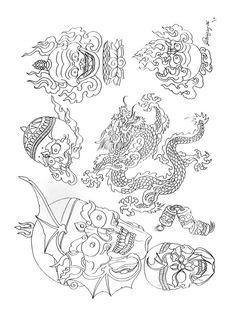 Tibetan Tattoo, Tibet Art, Paradise Tattoo, Oriental Tattoo, Tattoo Flash Art, Buddhist Art, Irezumi, Design Show, Art Inspo