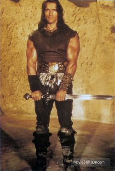 Conan The Barbarian - Promo shot of Arnold Schwarzenegger
