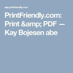 PrintFriendly.com: Print & PDF — Kay Bojesen abe