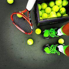 """Did some work after work..."" #tenniswarehouse http://www.centroreservas.com/"