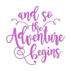 Adventure Cuttable Design SVG DXF EPS use with by CuttableSVG Vinyl Canvas Ideas, Travel Shirts, Cutting Tables, And So The Adventure Begins, Silhouette Cameo Projects, Coreldraw, Work Travel, Cool Fonts, Collage Sheet