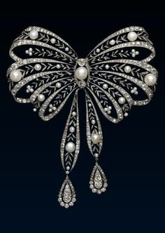 A Belle Epoque Pearl Stomacher Brooch by Chaumet, circa 1900.