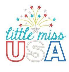 All Designs :: Little Miss USA