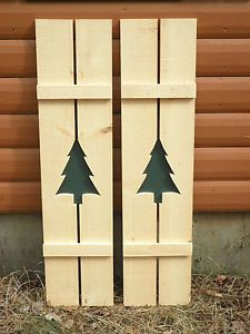 Wooden Shutters with Cut Outs | Exterior Wood Shutters: Cutouts ...