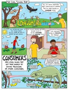 Ecosystems: Consumers Comic with Doodle Notes Science Comics, Science Room, Education Middle School, Reluctant Readers, Visual Learning, Ecology, Gain, Doodles, Notes