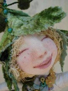 Cyndi Mahlstadt Doll Fantasy Dolls, Ugly Dolls, Sprites, Fairy Dolls, Handmade Dolls, Soft Dolls, Felt Art, Soft Sculpture, Doll Face