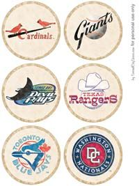GREAT vintage baseball party ideas and printables