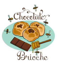 How to make Chocolate Brioche! Pin leads you back to Illustrates Bites with the step by step hand drawn recipe!