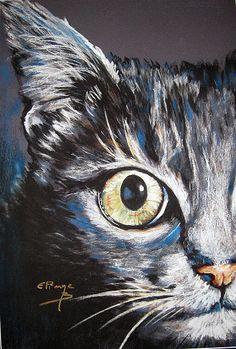 Eliane Bordarier animaux au pastel sec «Hypnose»