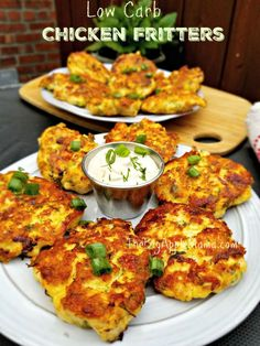 Low carb cheesy chicken fritters recipe