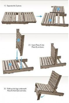 How to transform a pallet into a lawn chair. Gonna try to attempt this for the area around the fire ring.