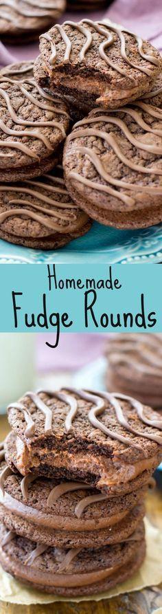 Chocolaty Homemade Fudge Rounds!