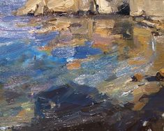 """Daily+Paintworks+-+""""Seascape+California+16""""+-+Original+Fine+Art+for+Sale+-+©+Roos+Schuring"""