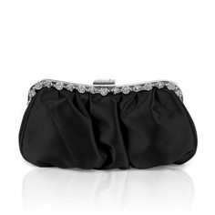 Ever Pretty Rhinestones Hand Shoulder Wedding Party Cluth Evening Bag 03654, Black, One Size