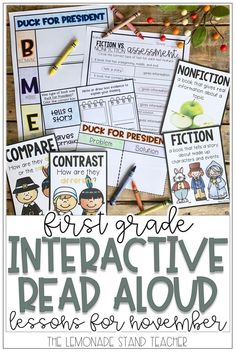 Interactive read alouds teach students amazing lessons, especially in first grade! Click through to check out all the fall-themed books, language arts activities, and engaging lessons included for you to use in your classroom! #firstgrade #interactivereadalouds #novemberclassroom Autumn Activities, Reading Activities, Teaching Reading, Early Elementary Resources, Interactive Read Aloud, Read Aloud Books, Reading Centers, Text Features, Book Themes
