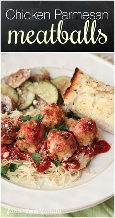 Chicken parmesan meatballs - a fun twist on traditional spaghetti and ...