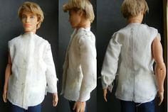 Fashion Doll Stylist: Shirt Tales; making shirts for Barbie and Ken.