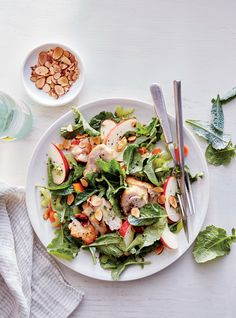 Kale, Apple, and Almond Chicken Salad  | MyRecipes