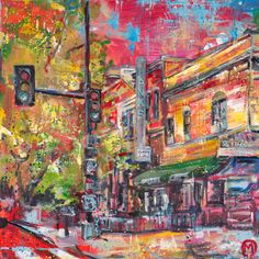 "Maggie O'Neill ""Hank's Oyster Bar,"" in Dupont Circle / Canvas prints are stretched and ready to hang at 20 x 20"" or 40 x 40"". $600"