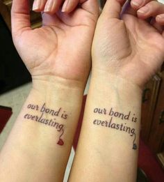 Mother daughter tattoo.