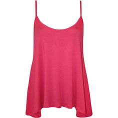 Dalia Strappy Swing Top ($11) ❤ liked on Polyvore featuring tops, shirts, tank tops, tanks, pink, cerise, summer shirts, swing top, pink shirt and pink top