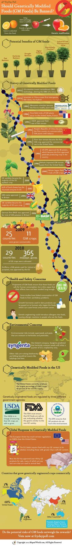 Infographic: Should Genetically Modified (GM) Foods be Banned?