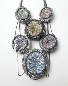 "Carina Shoshtary; ""Over the Rainbow"" (back); Necklace, 2016; Graffiti, silver."
