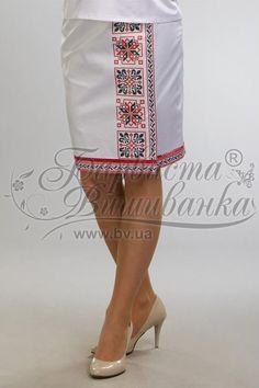 Атласная белая женская юбка СЖ-046Б