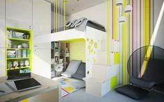 Návrh detskej izby CU-Interiors - Ideas of children room #cuinteriors #interier #design #interior