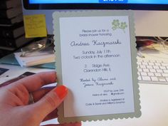 Live Creating Yourself.: Andrea's Wedding: DIY Shower Invitations