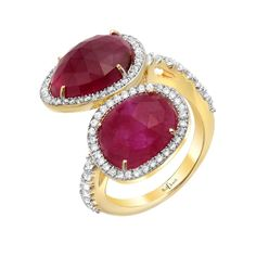 Ruby Love Ring | Red C Jewels #jewelry #ring #diamond #ruby #goldring #rubyandgold #gold #rubyring #diamondring #unique #couture