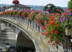 Bridge in Anse , France decorated with flowers  400 x 293   76.5 KB