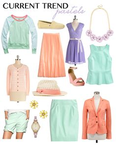 Current Spring 2014 Trend: Pretty Pastels (Gonna need to get a tan for these.)