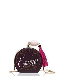 on pointe round perfume bottle clutch by kate spade new york