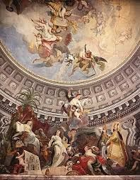 Hand painted oil painting reproduction on canvas of Ceiling decoration by artist Franz Anton Maulbertsch as gift or decoration by customer order. Fresco, Ceiling Murals, Ceiling Decor, Anton, Web Gallery Of Art, Elements Of Color, Oil Painters, Catholic Art, Art Music