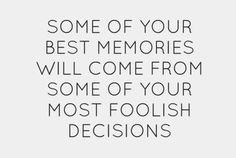 be foolish