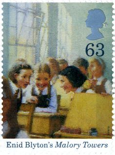 Malory Towers  #SpecialStamp from 1997 'Birth Centenary of Enid Blython Royal Mail Stamps, Uk Stamps, Rare Stamps, Vintage Stamps, Enid Blyton Books, Film Poster Design, Envelope Art, Kingdom Of Great Britain, Penny Black