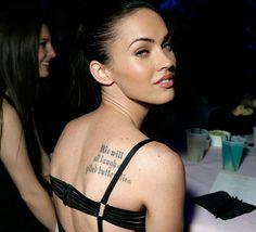 638d66b78e1e6 41 Incredible Megan Fox Tattoos Megan Fox Tattoo, Bad Girl Style, Fox  Actress,