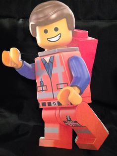Lego movie party centerpiece